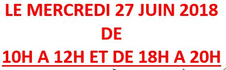 Inscription pour l'Aumonerie de l'Houtland et de la Colme : Mercredi 27 juin2018