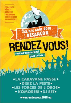 MRJC – FESTIVAL DE LA PAIX du 2 au 5 aout2018