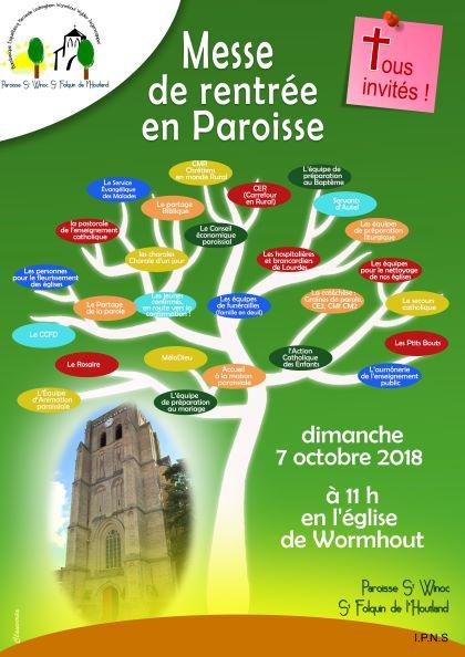 Messe de rentrée de la paroisse St WINOC St FOLQUIN de l'HOUTLAND – 07 octobre2018