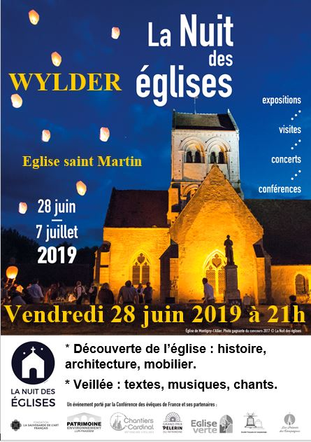 Affiche nuit des églises 2019